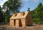 house home colony forest cabin log douglas trees warande lust raw wood shut isolated